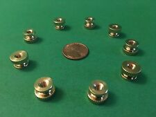 Telegraph Morse Key 18ea8/32BRASS THUMB NUTS for CW KEY BUG SOUNDER FLAMEPROOF