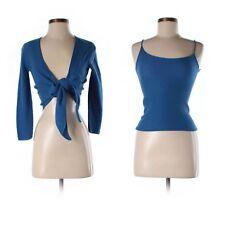$1570 GIORGIO ARMANI NWT Blue Wrap Sweater & Tank Set Wool/Cashmere- New!
