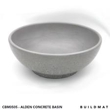 Circle Concrete Basin 360D X 130H Cement Grey