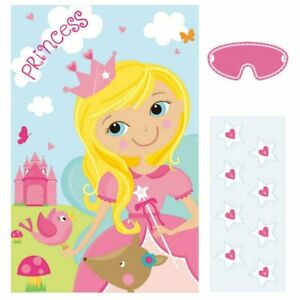WOODLAND PRINCESS PIN STAR ON THE WAND PARTY GAME POSTER DECORATION FAIRYTALE