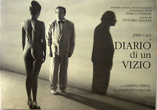 DIARIO DI UN VIZIO brochure film 1993 Marco Ferreri Jerry Calà Sabrina Ferilli