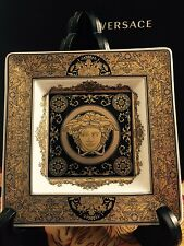 VERSACE ARCADIA GOLD MEDUSA ASH TRAY PLATE NEW in Box CHRISTMAS GIFT IDEA
