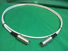 3 ft SILVER PLATED 5 Pin  MIDI SYNCHRO Cable W/ Neutrik Connectors.