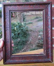 Antique ARTS & CRAFTS Small Scrolled Design WOOD Frame 6 x 8 in. fit c1900s