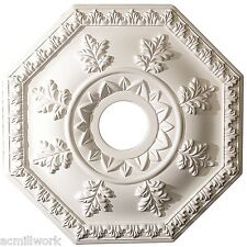 Ceiling Medallion18 inch Primed White D519 octagon light canopy dome design big