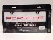 Porsche Cayman License Plate Frame Insignia Matt Black 987C 987C-2 981C