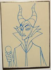 Disney Auctions P.I.N.S. Pin How to Draw Blue Line Maleficent Rare Le 1000