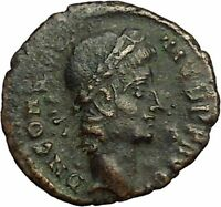 CONSTANTIUS II Constantine the Great son Roman Coin Wreath of success i34835