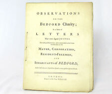 HARPUR TRUST Observations on the BEDFORD CHARITY William Harpur FIRST EDITION