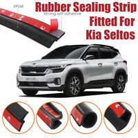 Car Seal Strip Kit Rubber Weather Draft Wind Noise Reduction For Kia Seltos