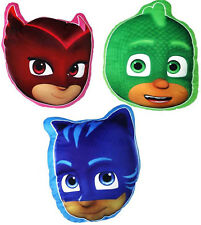 Children's Kids PJ Masks 3D Plush Soft Pillow Cushion Owlette Catboy Gekko 60030