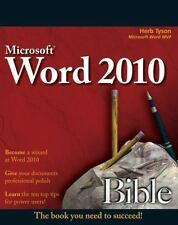 MICROSOFT WORD BIBLE 2010 - TYSON, HERB - NEW PAPERBACK BOOK
