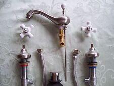 Satin Nickel 2-Handle Widespread Bathroom Faucet 3-hole Home Fixtures ES948CX