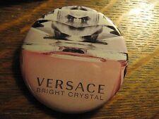 Versace Pocket Mirror - Repurposed Bright Crystal Magazine Ad Lipstick Mirror