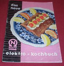 dachbodenfund alter prospekt neff das neue elektro kochbuch 1956 reklame werbung
