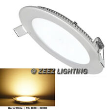 "Warm White 9W 6"" Round LED Recessed Ceiling Panel Down Lights Bulb Lamp Fixture"