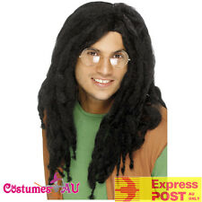 Mens Reggae Black Dreadlocks Wig Rasta Jamaican Bob Marley Costume Accessory Wig