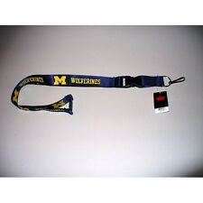 Michigan Wolverines Ncaa College Detachable Neck Safety Latch Buckle Lanyard