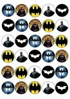 30 X FAB BATMAN MIXED IMAGES EDIBLE CUPCAKE TOPPERS PREMIUM RICE PAPER 120