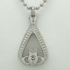 CELTIC CREMATION JEWELRY CLADDAGH TEAR URN NECKLACE MEMORIAL KEEPSAKE PENDANT