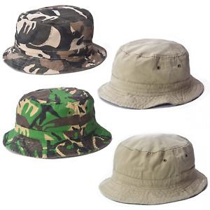 Mens Ladies Bush Hat Camouflage Reversible Bucket Surf Camo Sun Summer Fishing