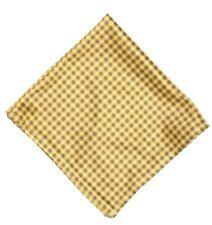 Wurkin Stiffs Mens Yellow Microfiber Check Pocket Square 5307