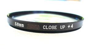 58mm CLOSE UP Lens +4 Filter - Japan - NEW