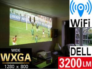 WXGA WIFI INTERACTIVE  ULTRA SHORT THROW 3200 LMN DELL PROJECTOR NEW LAMP 12 jul