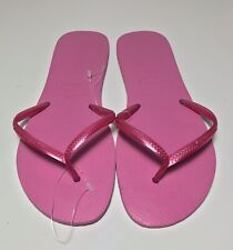 Havaiana Womens Slim Pink Thong Flip-Flops Sandals 11/12 W