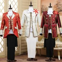 Details about  /Mens Renaissance Tuxedo Jacket Pants Suit Wedding Party Cosplay Costume Clothes