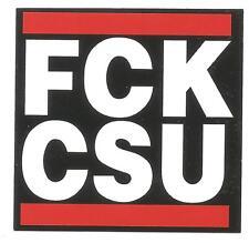 100 FCK CSU Aufkleber Punk Fun Anti Merkel Bayern Gegen CSU Anti CSU Anti Nazi
