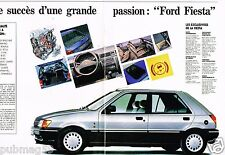Publicité advertising 1989 (8 pages) Ford Fiesta