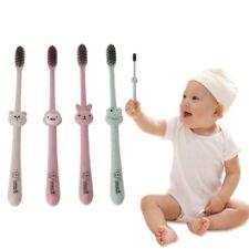 Baby Toothbrush Natural Wheat Straw Cartoon Toddler Kid Newborn Dental Oral Care