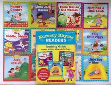 Nursery Rhyme Readers and Teaching Guide Preschool Children's Books Lot 12 NEW