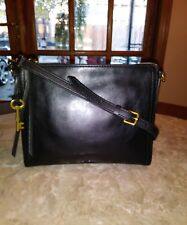 Fossil Authentic Emma EW CB Black Leather Women's Bag, Cute!