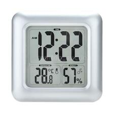 Water-Proof Digital LCD Shower Clock Bathroom Home Kitchen Square Wall Clock