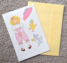 Holly Hobbie Vintage Paper Doll Card, 1989, American Greetings, Unused, 2 Sides