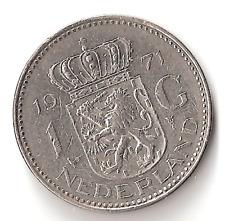 1971 The Netherlands 1 Gulden Coin Holland Dutch