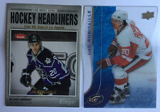 2 Luc Robitaille Cards 2006-07 Fleer Hockey Headliners #HL5 & 2015-16 UD Ice #93