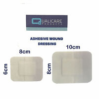QUALICARE PREMIUM STERILE FIRST AID ADHESIVE WOUND CUT FABRIC PLASTER DRESSINGS