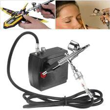 Portable Mini Airbrush Air Compressor Kit Set Hose Makeup Cake Tattoo Nail Hobby