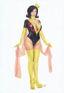 MRS GIRLFRIEND Dr The Monarch The Venture Bros. PIN-UP SEXY ORIGINAL ART TV Show