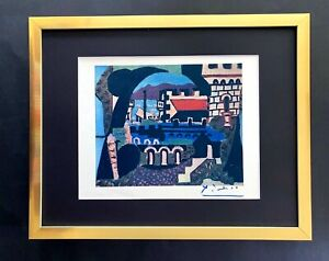 PABLO PICASSO VINTAGE 1948 BEAUTIFUL SIGNED PRINT MATTED 11 X 14 + LIST