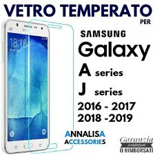 PELLICOLA VETRO TEMPERATO SAMSUNG GALAXY A3/A5/A7/A8/J1/J3/J5/J7 2016 2017 2018