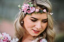 10-12 guirnalda de flores flores pelo joyas novia boda Wedding hairdress Boho
