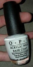 NEW OPI Nail Polish Treatment ACRYLIC NAIL BASE COAT ~ Prevents staining