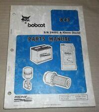 Bobcat 843 Skid Steer Loader Parts Manual Book Catalog Sn 24001 Up Izuzu Motor