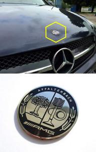57mm Mercedes Benz Affalterbach Front Hood Bonnet Emblem Badge Logo Decal AMG