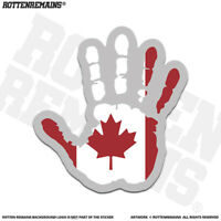 Canada Flag Hand Wave Decal Sticker Canadian Canuck Waving Handprint Print EMV