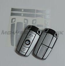 1B_Schlüssel-Dekor Aufkleber BMW 1er 3er 5er 6er Z4 X1 X5 alu gebürstet silber